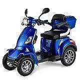 VELECO Seniorenmobil 4-Rad Elektromobil ElektroRoller 1000W Faster BLAU