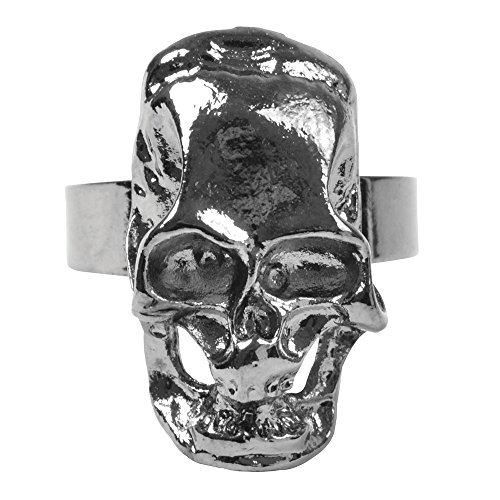 Bristol Novelty ba885 Pirat Skull Totenkopf Ring, One size