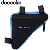 Docooler - Bolsa triangular para bicicleta, de tejido Oxford, 18x 18x 4cm, para sillín de bicicleta, turquesa