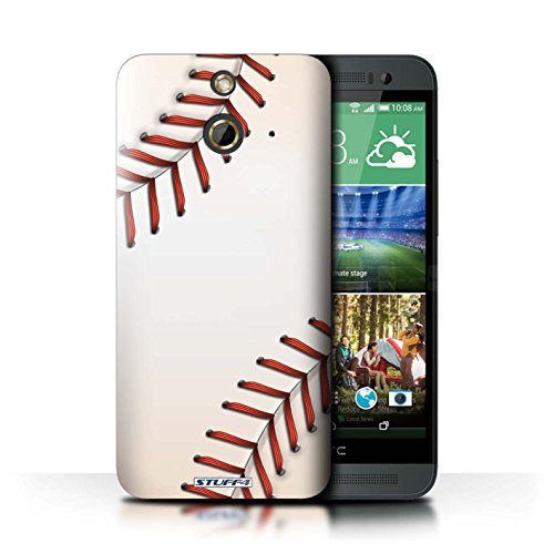 Kobalt® Imprimé Etui / Coque pour HTC One/1 E8 / Rugby conception / Série Balle Sportif Base-ball