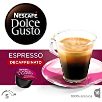 Nescafé Dolce Gusto - Espresso descafeinado, paquete con 16 cápsulas