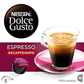 NESCAFÉ Dolce Gusto Espresso Decaf Coffee, 16 Capsules (Pack of 3, Total 48 Capsules, 48 Servings)