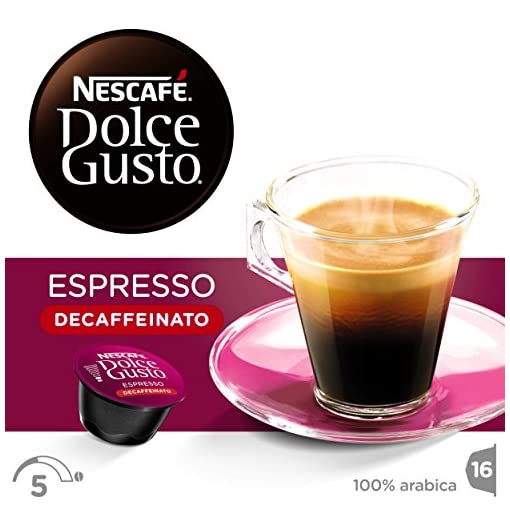 NESCAFÉ Dolce Gusto Espresso Decaf Coffee, 16 Capsules (48 Servings, Pack of 3, Total 48 Capsules)