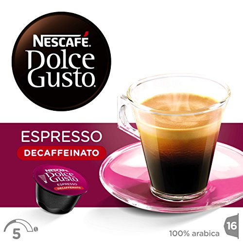 NESCAFÉ Dolce Gusto Espresso Decaf Coffee, Pack of 3 (Total 48 Capsules, 48 servings) 51MkaQ8WH4L