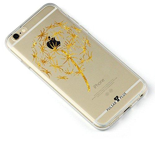 PULSARplus Coque iPhone 7 Black Carbon Design Etui TPU noir - Housse de protection mince flexible pour original Apple iPhone 7 Dandelion 2