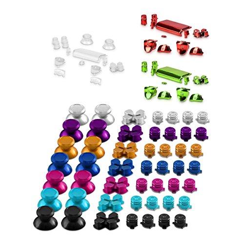 kwmobile-Tasti-in-alluminio-per-Playstation-4-Dualshock-in-colore-a-scelta-4-Tasti-azione-2-Thumbsticks-1-Game-Controller