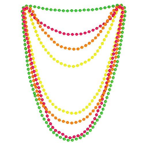 Widmann 05843 - Perlenkette, 4er Set, One Size, neonfarbe