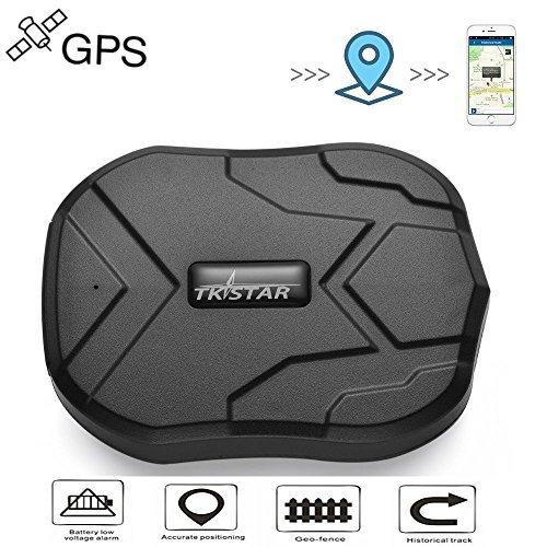 Localizzatore Gps GPS Tracker 90 giorni Standby Tracking in Tempo Reale Tracciatore di Posizione ,Geo-fence Alarm App Gratuita Antifurto per Auto Moto Camion con Forte Magnete Batteria 5000mah