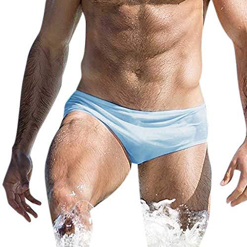 Bfmyxgs Männer Breathable Badehose Stilvolle Hosen Strand Einfarbig Laufen Sexy Schwimmen Unterwäsche Badeanzug