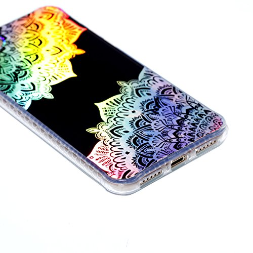 3pcs Caso Morbida per iPhone 7 / 8, Asnlove TPU Silicone Gel Custodia Ultra Sottile Electroplated Cassa Placcatura Modello Colore Cover Antiurto Gomma Elegante Case Posteriore, Gruppo-3 Colore-1