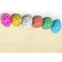 Interesting® 6 piezas de juguete para niños Kids regalo mágico creciente dinosaurio Dino huevos para incubar los huevos Añadir agua Dinaosaur