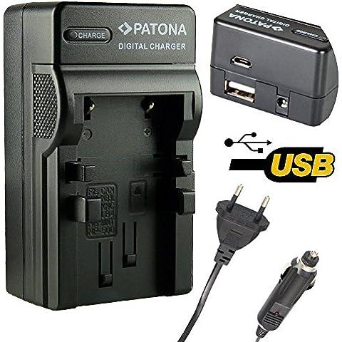 4in1 Caricabatteria con ingresso Micro / USB compatibile per DR-LB4 Minolta NP500 NP600 per Konica DR-LB4 KD-310Z KD-400Z KD-410Z KD-420Z KD-500Z KD-520 Minolta Dimage G400 G500 G530 G600 Praktica EXAKTA DC 4200 Concord Eye-Q 4342z Fujitsu-Siemens CX 431 Rollei dt4000 Prego DP4000