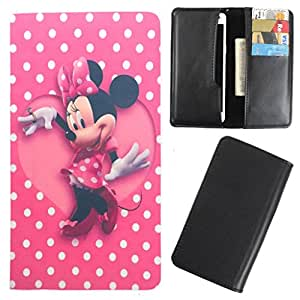 DooDa - For LG Max (X160) PU Leather Designer Fashionable Fancy Case Cover Pouch With Card & Cash Slots & Smooth Inner Velvet