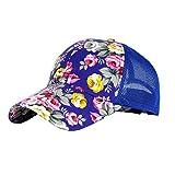 Fletion Frauen Teens Mädchen Floral Baseballmütze Fußball Hut Sommer Casual Mesh Cap Sonnenschutz Hut