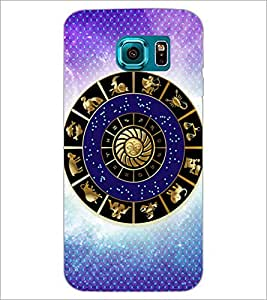PrintDhaba Zodiac Wheel D-3254 Back Case Cover for SAMSUNG GALAXY S6 (Multi-Coloured)