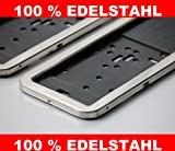 2 Stück EDELSTAHL Kennzeichenhalter Kennzeichenhalterung Edelstahl NEU & OVP