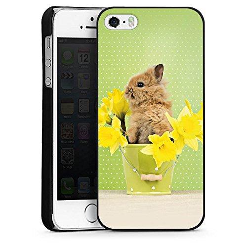 Apple iPhone 4 Housse Étui Silicone Coque Protection Lapin de Pâques Lapin Lapin CasDur noir