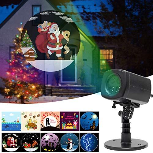 LED Projektor Projektionslampe Weihnachten - Signstek Animation Effekt Einzigartig mit Fernbedienung, Indoor Dekoration Weihnachtsgeschenk (Anime)