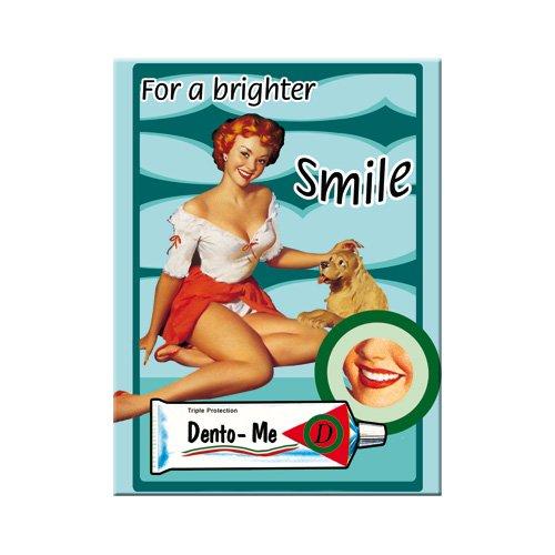 Nostalgic-Art 14030 Pin Up For a Brighter Smile, Magnet, 8 x 6 cm -