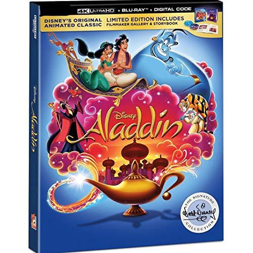 Disney's Aladdin 1992 Signature Collection (4K Ultra/Blu-Ray/Digital) mit Filmemacher-Galerie und Storybook