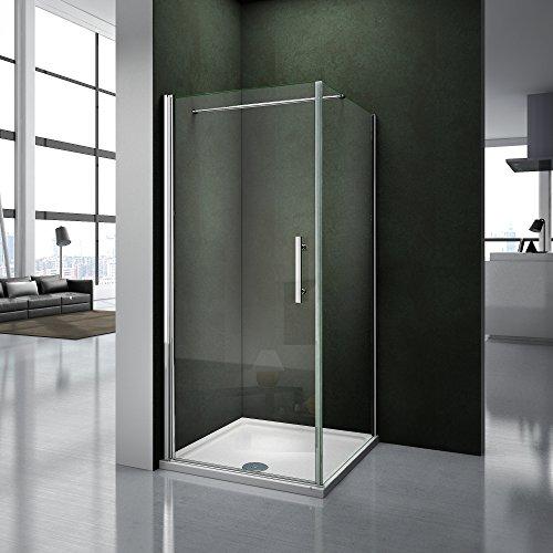 100x80x195cm Porte pivotante porte de douche paroi de douche cabine de douche...