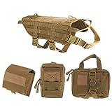 MagiDeal Vestito Imbracatura cablaggio Militare per Cani da Caccia Poliziotto Tattico con Sacchetto - #1, M