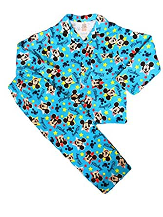Winter Disney Mickey Mouse Boys Pyjamas Warm Wincey Pyjama Set (3-4 Years)