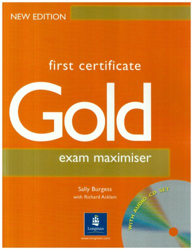 First Certificate Gold Maximiser NoKey & CD New Edition Maximiser No Key & CD