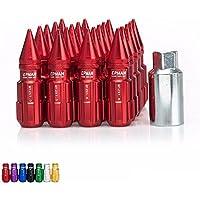 CPR STEEL SPLINE SPIKE LUG NUTS M12X1.5MM  20 PSC+20SPIKES WTH KEY RED
