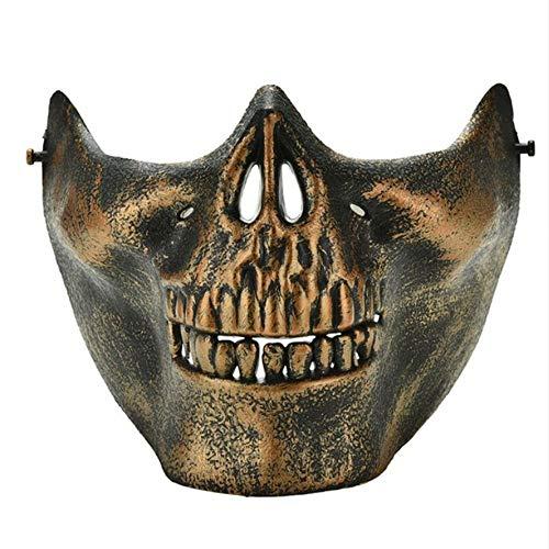 Shuangklei Scary Skull Skeleton Maske Halloween Kostüm Halbe Gesichtsmasken Für Party (Halloween-scary Kostümen Diy)
