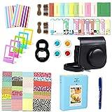 Leebotree 10 en 1. Accessoires pour Appareil Photo Instax Mini 9, Mini 8/8+, Le Package Comprend étui,Album, lentille, filtres, Cadres, Stylo et Autres (Noir)