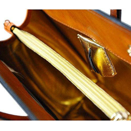 Pratesi - Alberti - S328/32 Santa Croce - Sac à main pour femme de taille moyenne , Santa Croce/Cerise (Rose) - 2001 marron