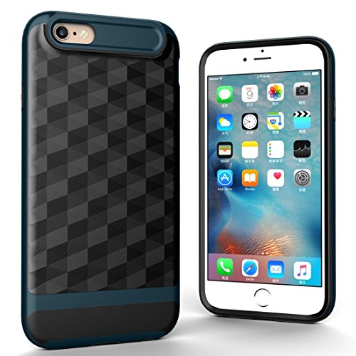 Coque Pour iPhone 6, 3D Diamond PC + TPU Combination Case de protection ( Color : Grey ) Navy