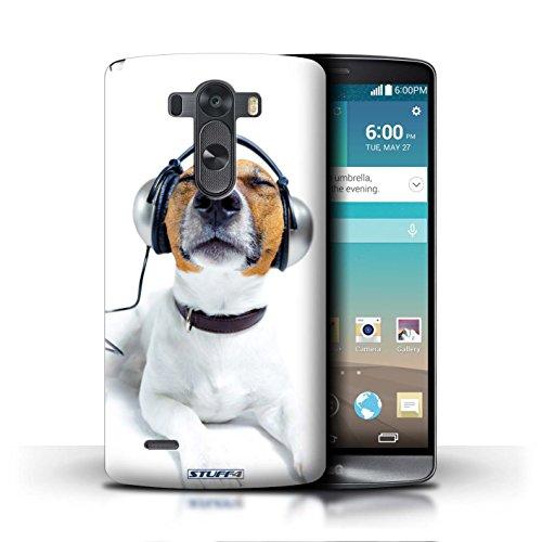 Kobalt® Imprimé Etui / Coque pour LG G3/D850/D855 / Chien somnolent conception / Série Animaux comiques Chien avec casque