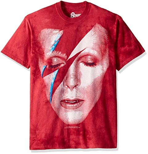 Liquid Blue Unisex-Erwachsene David Bowie Aladdin Sane Short Sleeve T-Shirt, Batik, XX-Large