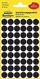 AVERY Zweckform 3140 Markierungspunkte (270 Stück, Ø 12 mm, 5 Blatt) schwarz