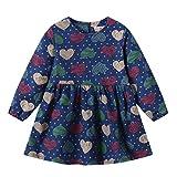 Beladla Vestido NiñO Bautizo Bebé NiñA Flor ImpresióN Sin Mangas Mezclilla Vestidos Vestido para BebéS Ropa Impresa De Camisa