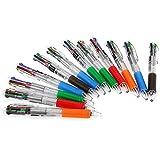 12 x Kugelschreiber Kulli Schreibzeug 4 in 1 0.7mm Büro Schule
