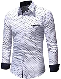 Dragon868 Herren Langarm Hemd Slim Fit Polka Dot, Super Modern Hemden Super  Qualität d37c5d9cc9