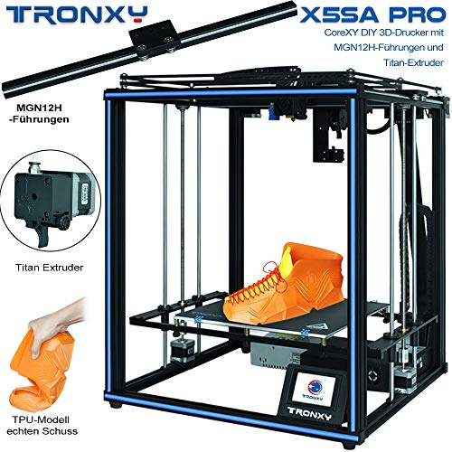 X5SA PRO 3D Printer with Titan, Core XY Structure with Industrial Linear Guide, 30P Integrated Cable, Safe for Home and Industrial Use
