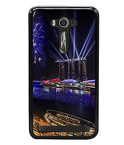 printtech Celebration New Year Lights Back Case Cover for Asus Zenfone Selfie , Asus Zenfone Selfie ZD551KL