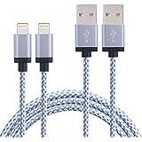 Duractron 2Pack 2Meter/ 6FT Lightning Ladekabel Nylon USB Kabel Datenkabel kompatibel mit iPhone 5 / 5c / 5s/ 6/ 6 Plus / 6s / 6s Plus/ SE, iPad Pro Air Air 2 mini2 mini3 4th Gen, iPod Nano 7th Gen
