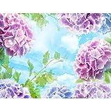 Fototapete Blumen Hortensien 396 x 280 cm - Vlies Wand Tapete Wohnzimmer Schlafzimmer Büro Flur Dekoration Wandbilder XXL Moderne Wanddeko - 100% MADE IN GERMANY - 9415012c