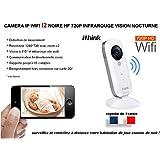 Caméra de surveillance IP couleur et infrarouge avec zoom I2