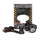 PATHFINDER 21 LED Headlamp Headlight Head Torch - Lightweight, Comfortable and Weatherproof Flash Light/Torch - Water Resistant Safety Head Lamp - 4 User-Friendly Modes of Operation - Garage Workshop Garden Head lamp, Head Torch for Biking, Cycling, Climbing, Camping, Dog Walking, Hiking, Fishing, Night Reading, Riding, Running and other Outdoor and Indoor Activities - Adjustable Head Strap - 135 Degrees Adjustable Beam Angle - 100,000 Hours LED lifetime (in RETAIL PACKAGING) - BLACK (BLACK) - 2