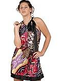 """Gr. M: Urlaubstraum aus 100% Seide: Neckholder-Kleid im """"Buddha Bar""""-Print, multi-colour M (38)"""