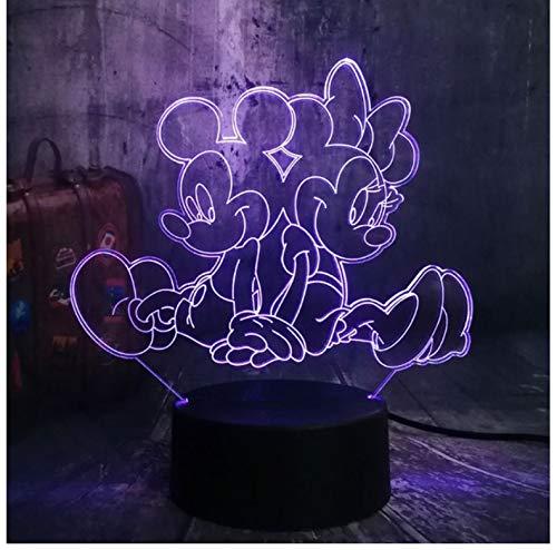 Cooles niedliches Mickey Minnie Mouse 3D LED Lampe Nachtlicht Dekor Kind Weihnachtsgeschenk Spielzeug (Mickey-mouse-projektor)