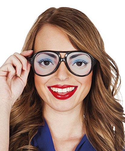 erdbeerclown - Augen, Eyes, Brille, Kostüm, Sonnenbrille, Schwarz (Sexy Nerd Girl Kostüme)