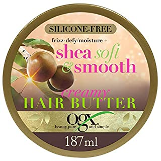 OGX Frizz Defy Moisture Plus Soft and Smooth Creamy Hair Butter, 187 g