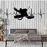 XXYQ Wandaufkleber Hockey Goalie Heartbeat Aufkleber Aufkleber Für Nacht Kunst Schlafzimmer Wanddekor Wandbilder Poster Abnehmbare Wandaufkleber